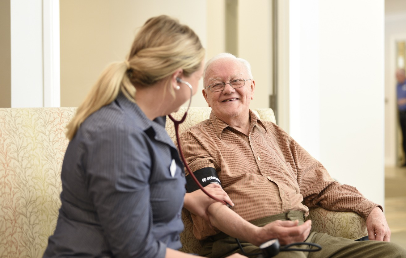 senior private care working in aged care